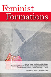Feminist Formations 27.3 cover